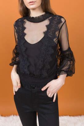 Allison Collection Chiffon Lace Blouse w Cami