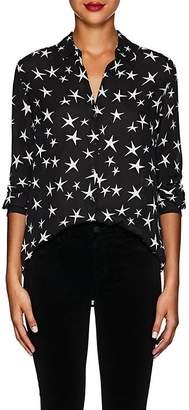 L'Agence Women's Nina Star-Print Silk Blouse