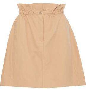 Nina Ricci Gathered Cotton Mini Skirt