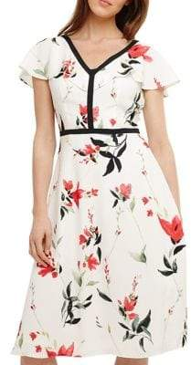 Phase Eight Caylana Poppy Floral Fit-and-Flare Dress