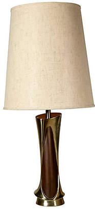One Kings Lane Vintage 1960s Laurel Sculptural Metal Table Lamp - 2-b-Modern