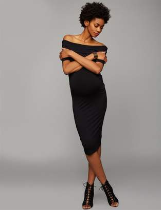 A Pea in the Pod Off The Shoulder Maternity Dress