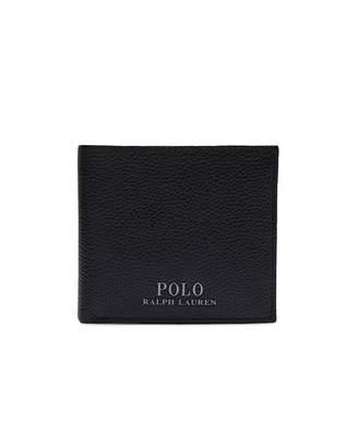 Polo Ralph Lauren Metal Logo Leather Bilfold Wallet Colour: BLACK, Siz