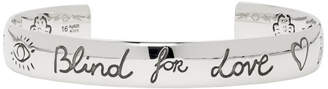 Gucci Silver Blind For Love Bracelet