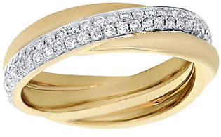 Affinity Diamond Jewelry Crossover Diamond Ring, 14K, 1/2 cttw, by Affin ity