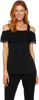 Susan Graver Premier Knit Off-the- Shoulder Top