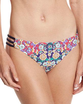 Nanette Lepore Desert Diamond Charmer Strappy-Side Swim Bottom, Multi $80 thestylecure.com