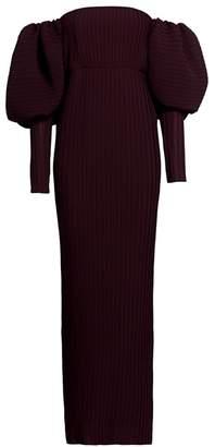 SOLACE London Tasmin Off-the-Shoulder Puff-Sleeve Maxi Dress