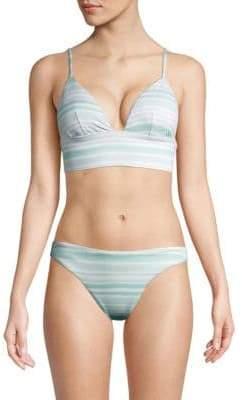 Eberjey Swim Dawn Painted Stripe Bikini Top