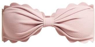 Marysia Swim Antibes Scallop Edged Bandeau Bikini Top - Womens - Light Pink