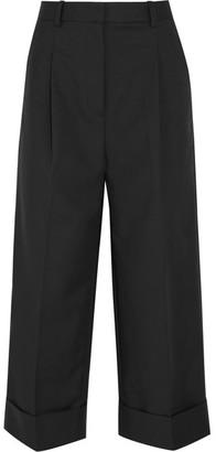 3.1 Phillip Lim - Cropped Cotton-blend Wide-leg Pants - Black $395 thestylecure.com