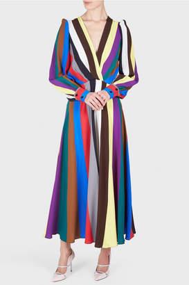 Cavallini Erika Rainbow Striped Midi Dress