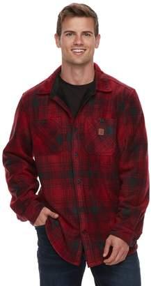 Coleman Men's Sherpa-Lined Fleece Button-Down Shirt