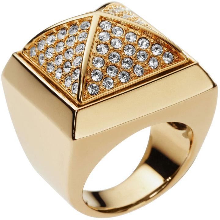 Michael Kors Pave Pyramid Ring