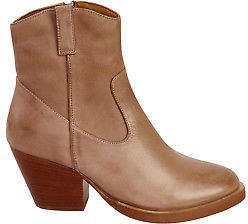 EOS NEW Womens Boots Vander Leather Ankle Boot Taupe