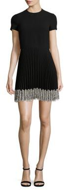 RED Valentino RED Valentino Pleated Lace Hem Dress