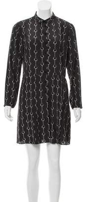 The Kooples Silk Abstract Dress