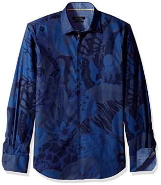 Bugatchi Men's Button Down Slim Fit Point Collar Shirt
