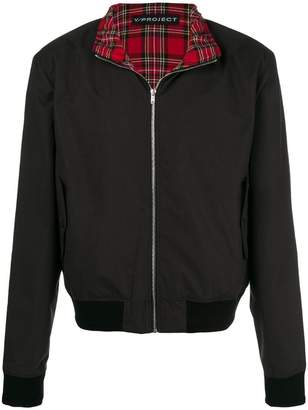Y/Project Y / Project plaid layer bomber jacket
