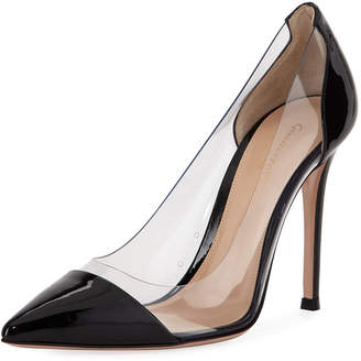 Gianvito Rossi Plexy Patent PVC Illusion Pumps