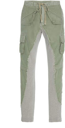Greg Lauren Paneled Skinny Cotton Pants