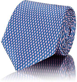 Barneys New York Men's Oval-Dot Silk Satin Necktie