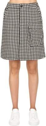 Tendric High Waist Flannel A-Line Skirt