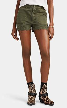 RE/DONE Women's The '50s Military Twill Shorts - Olive
