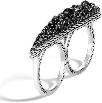 John Hardy Classic Chain Black Sapphire Two-Finger Ring