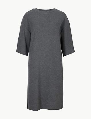 M&S Collection Cotton Blend Cosy Shift Dress