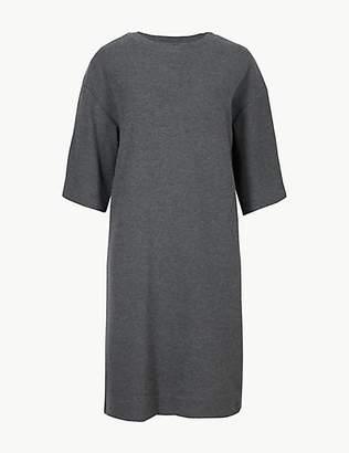 M&S Collection Cotton Blend Cosy Shift Mini Dress