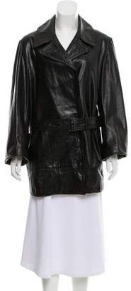 Ann Demeulemeester Leather Oversize Jacket