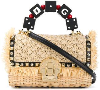 Dolce & Gabbana Lucia woven tote
