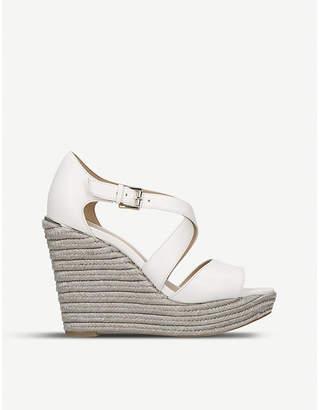 19dcf3838270 MICHAEL Michael Kors Abbott leather and jute wedge sandals