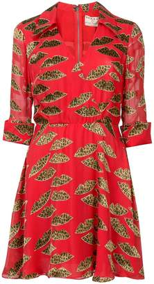 Alice + Olivia Alice+Olivia flared leopard print dress