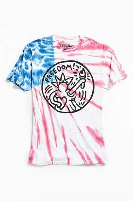 Urban Outfitters Keith Haring Americana Tie-Dye Tee