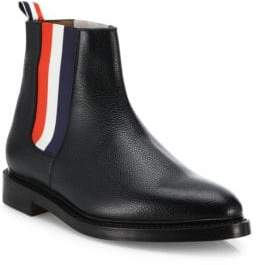 Thom Browne Leather Tricolor Panel Chelsea Boots