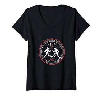 story. Womens American Horror Pentagram V-Neck T-Shirt