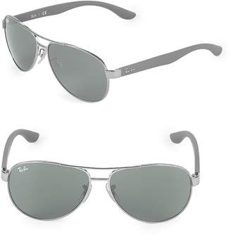 Ray-Ban Women's 59MM Shiny Round Aviator Sunglasses