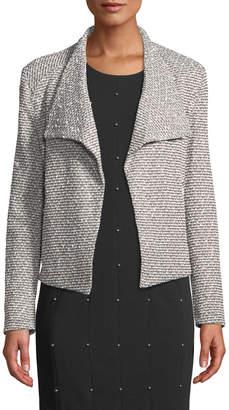 Iconic American Designer Jacquard-Knit Flyaway Jacket
