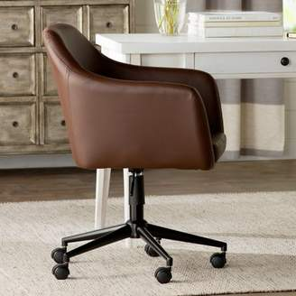 Laurèl Foundry Modern Farmhouse Violet Faux Leather Desk Chair