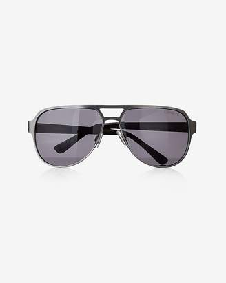 Express Two Tone Aviator Sunglasses