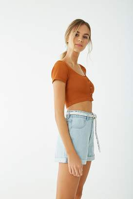 Forever 21 Ribbed Seamless Crop Top