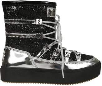 Chiara Ferragni Glittery Coated Metallic Boots