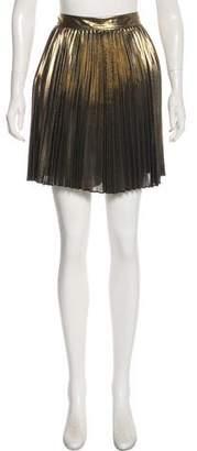 Haute Hippie Metallic Pleated Skirt