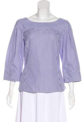 Derek Lam Striped Long Sleeve Top