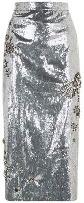 Erdem Sacha Embellished Sequin Skirt