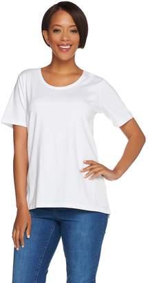 Denim & Co. Essentials Scoopneck T-shirt with Forward Seam