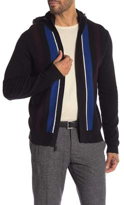 Perry Ellis Striped Hooded Cardigan
