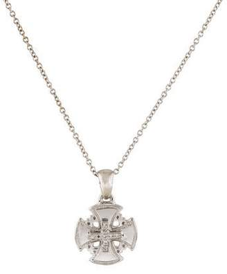 Reiss I. 14K Diamond Cross Pendant Necklace